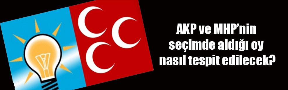 AKP ve MHP'nin seçimde aldığı oy nasıl tespit edilecek?