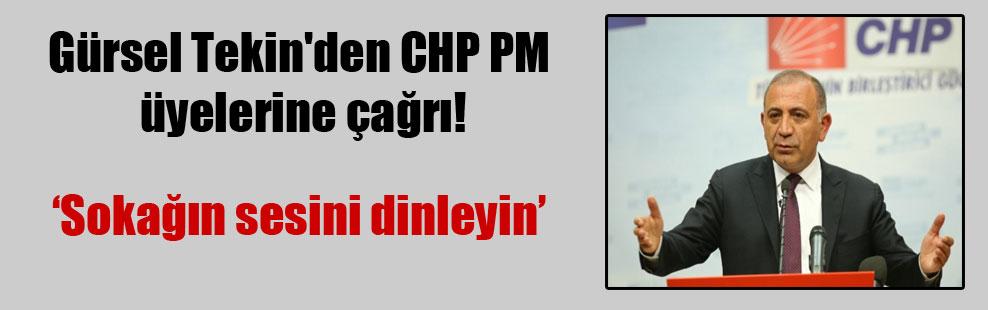 Gürsel Tekin'den CHP PM üyelerine çağrı!