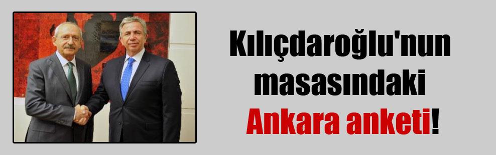 Kılıçdaroğlu'nun masasındaki Ankara anketi!