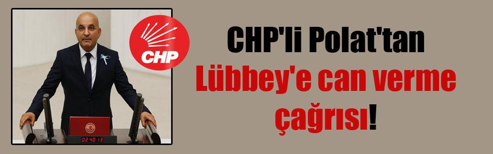 CHP'li Polat'tan Lübbey'e can verme çağrısı!