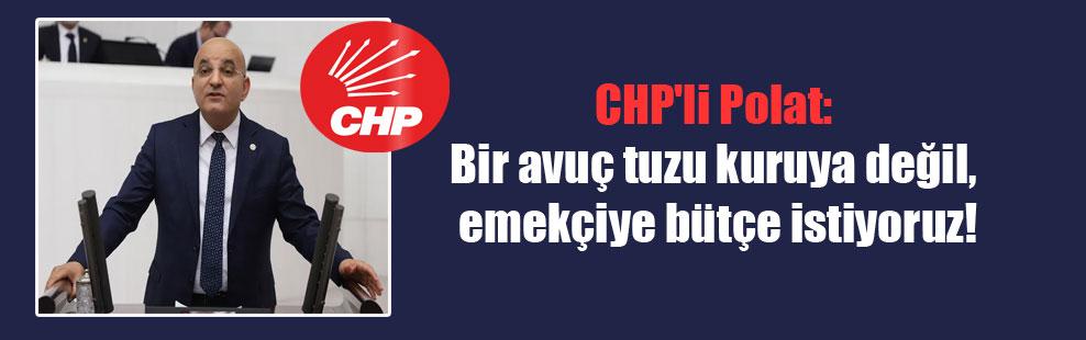 CHP'li Polat: Bir avuç tuzu kuruya değil, emekçiye bütçe istiyoruz!