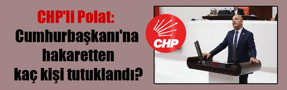 CHP'li Polat: Cumhurbaşkanı'na hakaretten kaç kişi tutuklandı?