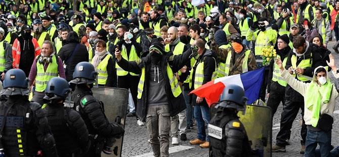 19. haftasında sarı yelekliler yine sokaklarda