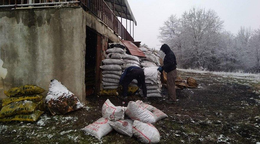 Yoksul aileler için dağıtılan kömür otel bahçesinde ele geçirildi