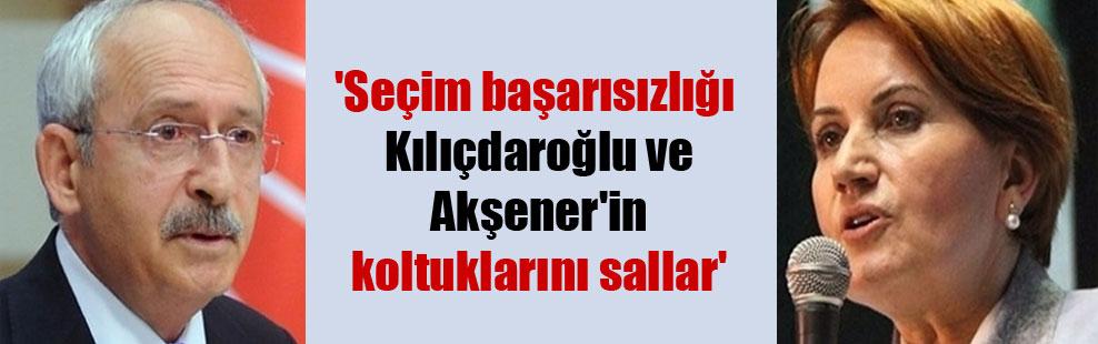 'Seçim başarısızlığı Kılıçdaroğlu ve Akşener'in koltuklarını sallar'