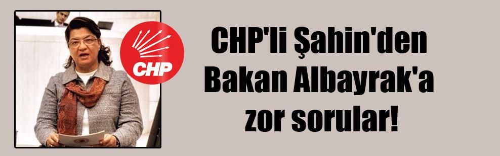 CHP'li Şahin'den Bakan Albayrak'a zor sorular!