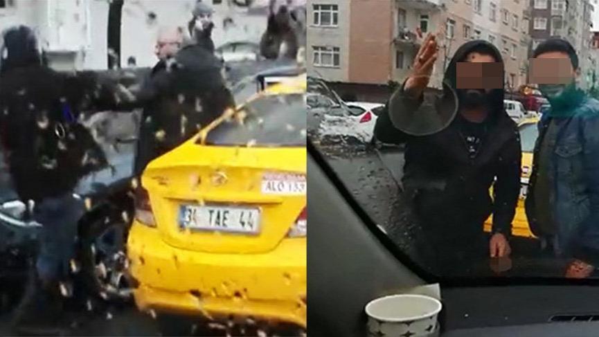 Yine taksiciler biri 'kısa mesafe' almadı diğerleri UBER'ciyi sıkıştırdı