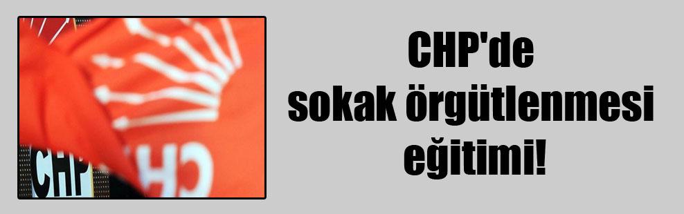 CHP'de sokak örgütlenmesi eğitimi!