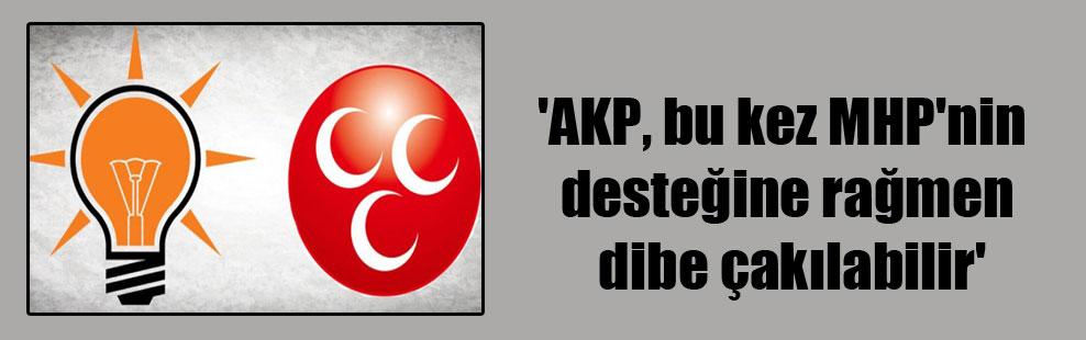 'AKP, bu kez MHP'nin desteğine rağmen dibe çakılabilir'