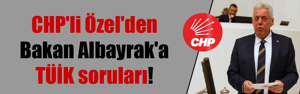CHP'li Özel'den Bakan Albayrak'a TÜİK soruları!