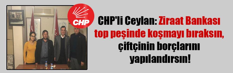 CHP'li Ceylan: Ziraat Bankası top peşinde koşmayı bıraksın, çiftçinin borçlarını yapılandırsın!