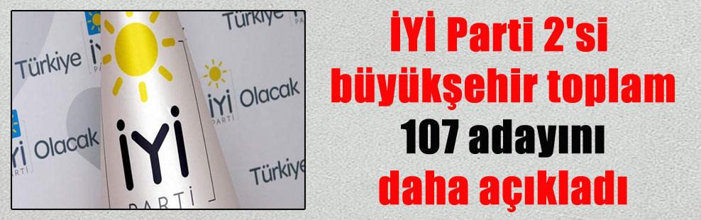 İYİ Parti 2'si büyükşehir toplam 107 adayını daha açıkladı