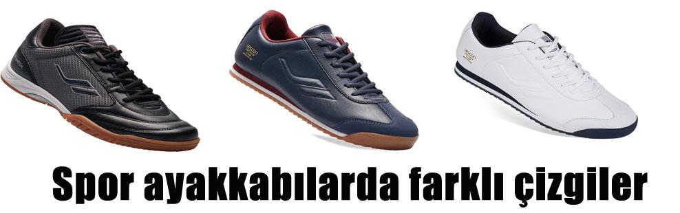 Spor ayakkabılarda farklı çizgiler