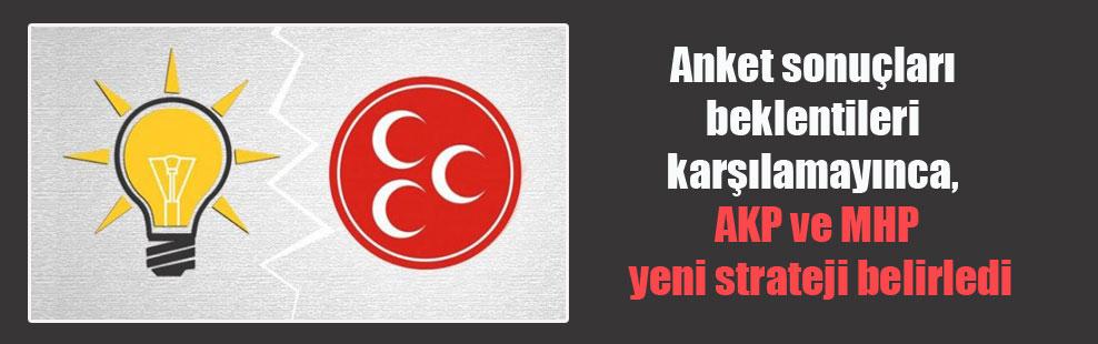 Anket sonuçları beklentileri karşılamayınca, AKP ve MHP yeni strateji belirledi