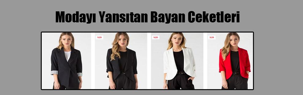 Modayı Yansıtan Bayan Ceketleri