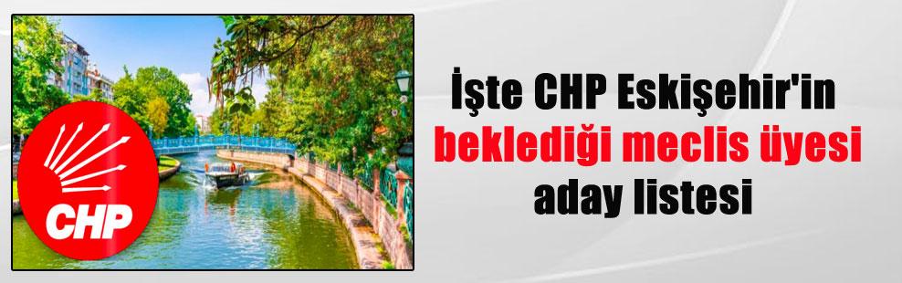 İşte CHP Eskişehir'in beklediği meclis üyesi aday listesi