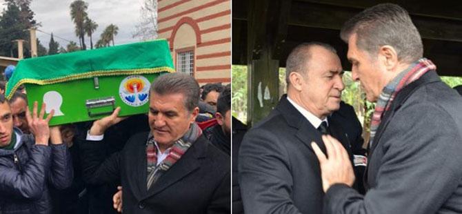 Fatih Terim'in babasının naaşını, en önde Sarıgül kucakladı