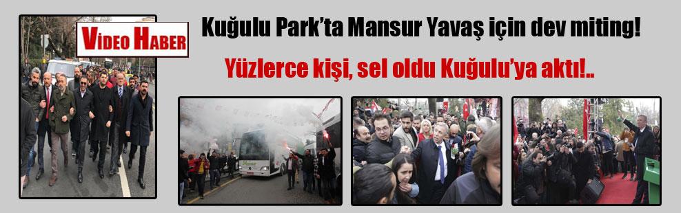 Kuğulu Park'ta Mansur Yavaş için dev miting! Yüzlerce kişi, sel oldu Kuğulu'ya aktı!..