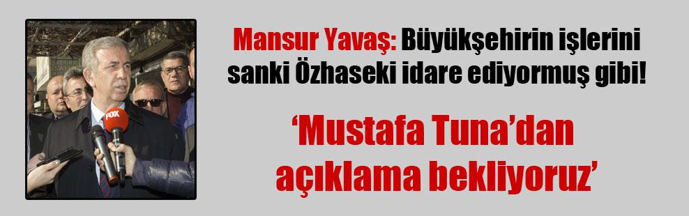 Mansur Yavaş: Büyükşehirin işlerini sanki Özhaseki idare ediyormuş gibi!