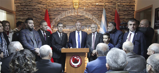 Mansur Yavaş'tan Türkmen Derneği'ne ziyaret!