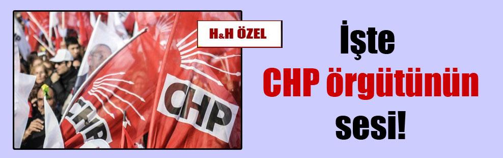 İşte CHP örgütünün sesi!