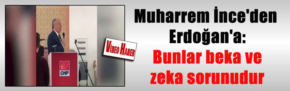 Muharrem İnce'den Erdoğan'a: Bunlar beka ve zeka sorunudur