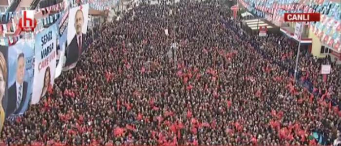 Kılıçdaroğlu ve Akşener'in ortak mitinginde tarihi kalabalık!