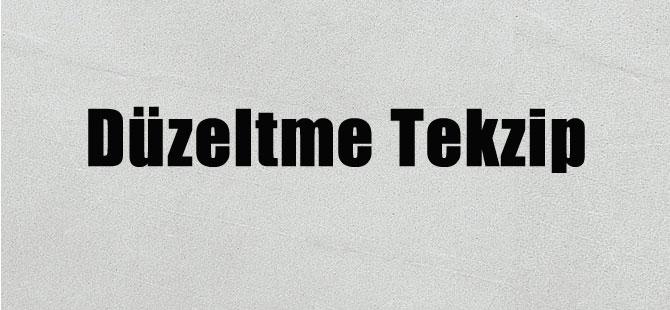 Düzeltme Tekzip