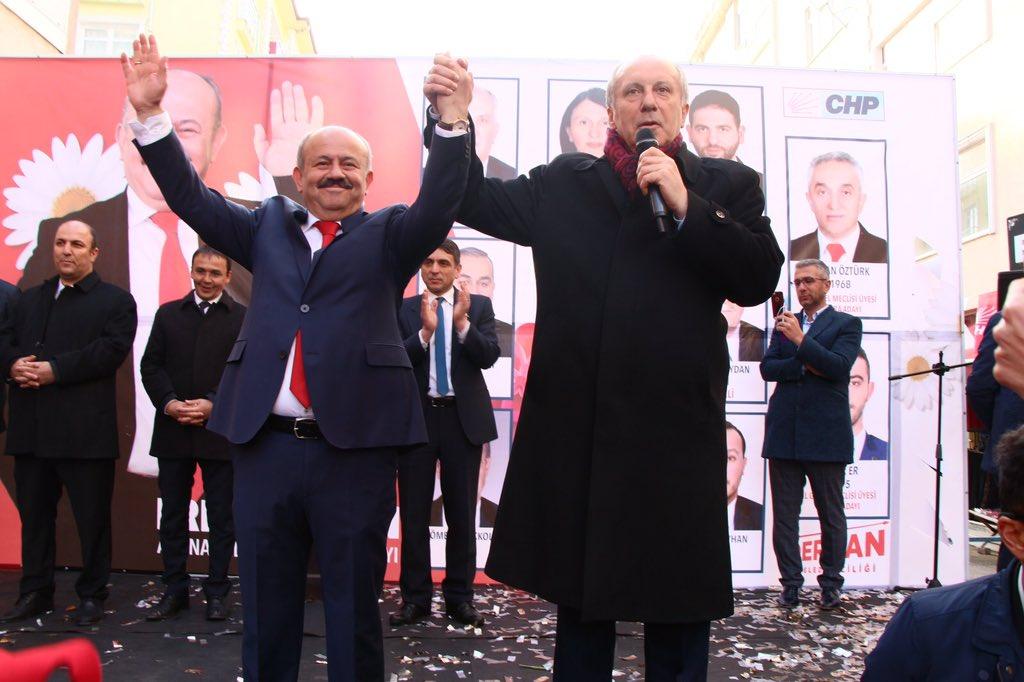 Muharrem İnce Abana Belediye Başkan Adayı'na destek olmak için Kastamonu'daydı