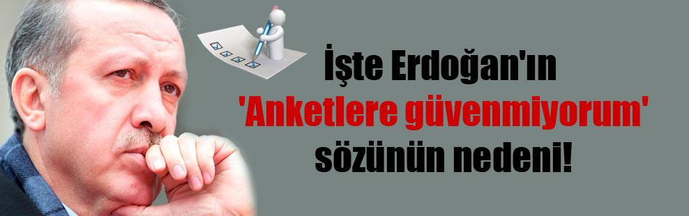 İşte Erdoğan'ın 'Anketlere güvenmiyorum' sözünün nedeni!