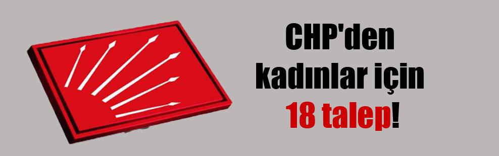 CHP'den kadınlar için 18 talep!