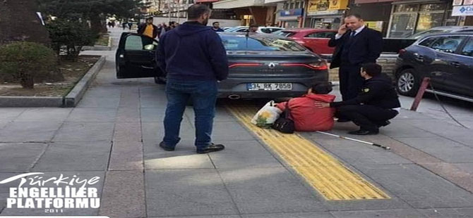 Ankara Tandoğan'da görme engellilere eziyet gibi engel!