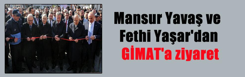 Mansur Yavaş ve Fethi Yaşar'dan GİMAT'a ziyaret