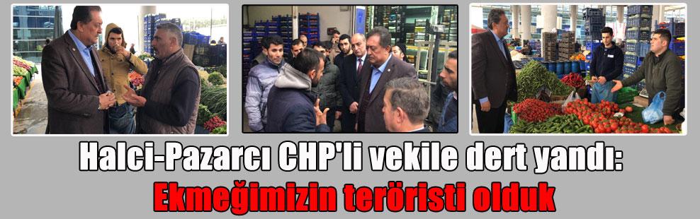 Halci-Pazarcı CHP'li vekile dert yandı: Ekmeğimizin teröristi olduk