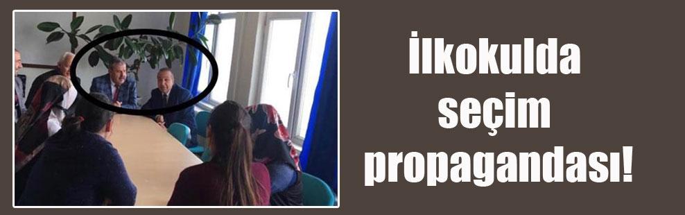 İlkokulda seçim propagandası!