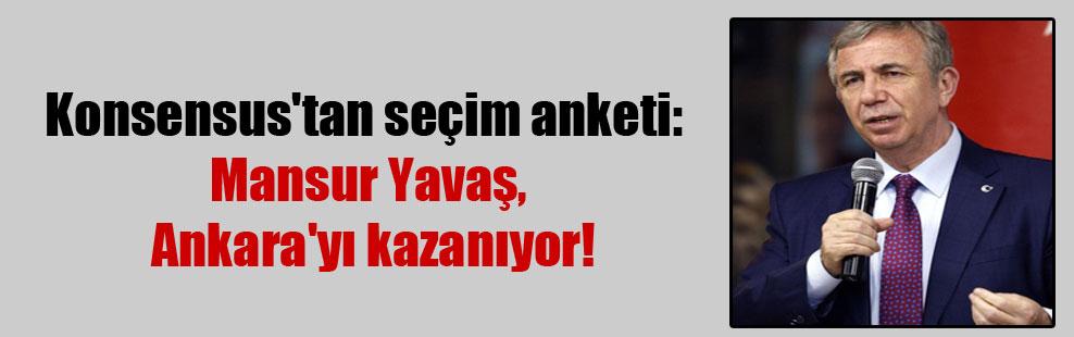 Konsensus'tan seçim anketi: Mansur Yavaş, Ankara'yı kazanıyor!