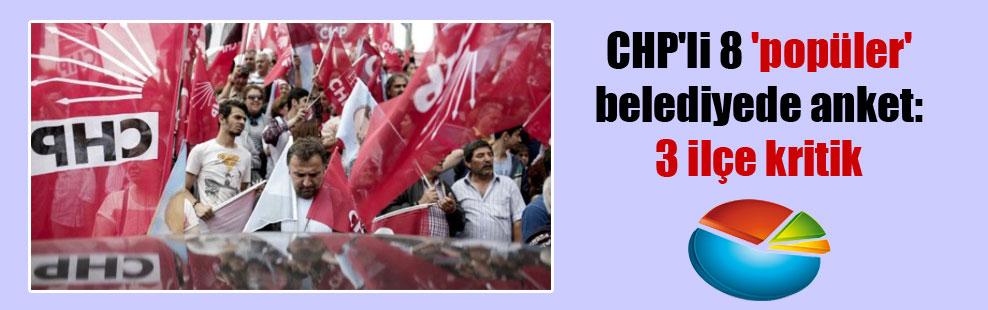 CHP'li 8 'popüler' belediyede anket: 3 ilçe kritik