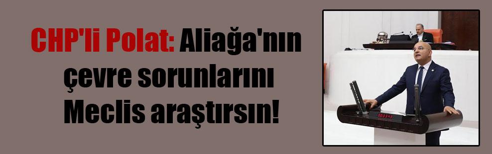 CHP'li Polat: Aliağa'nın çevre sorunlarını Meclis araştırsın!