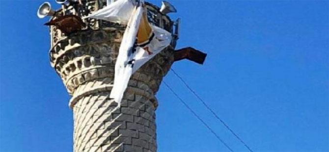 Minareye asılan AKP bayrağı için inceleme