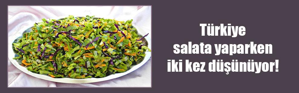 Türkiye salata yaparken iki kez düşünüyor!