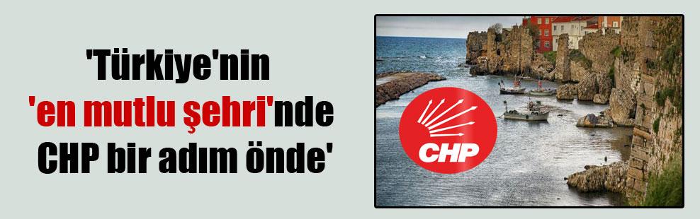 'Türkiye'nin 'en mutlu şehri'nde CHP bir adım önde'