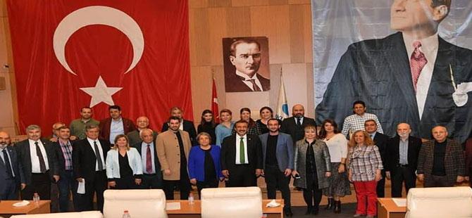 Meclis üyelerinden Çetin'e teşekkür