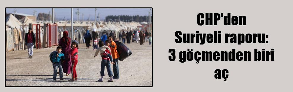 CHP'den Suriyeli raporu: 3 göçmenden biri aç