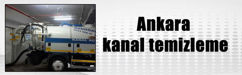 Ankara kanal temizleme