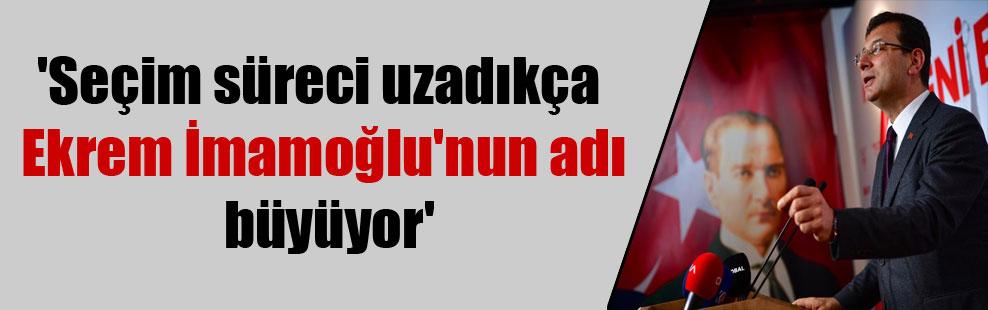 'Seçim süreci uzadıkça Ekrem İmamoğlu'nun adı büyüyor'