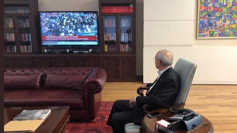 Kılıçdaroğlu, Ekrem İmamoğlu'nu böyle izledi!