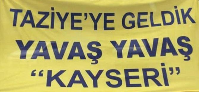 Ankaragücü taraftarından Kayserispor'a taziye mesajı!