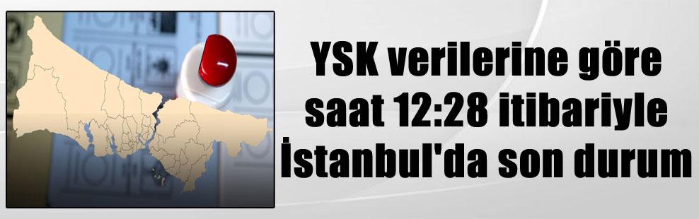 YSK verilerine göre saat 12:28 itibariyle İstanbul'da son durum