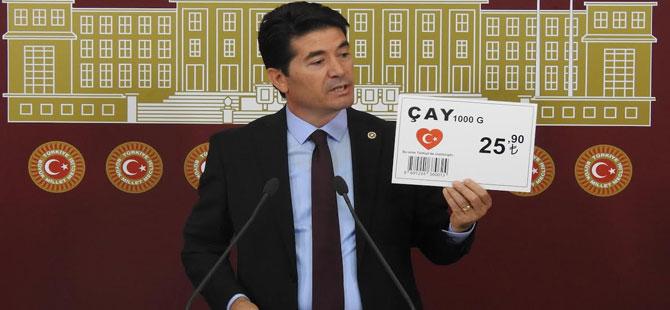 CHP'li Kaya: Kota ve kontenjan uygulaması çay üreticisini mağdur ediyor!