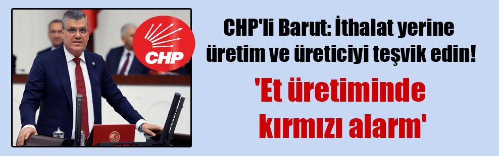 CHP'li Barut: İthalat yerine üretim ve üreticiyi teşvik edin! 'Et üretiminde kırmızı alarm'
